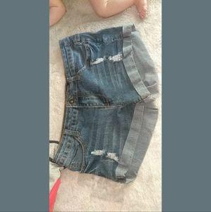 Distressed Women's Jean Shorts